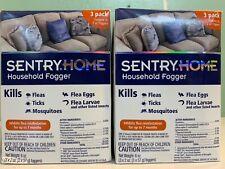2 Sentry Home Flea & Tick Household Fogger 3-packs.  New in boxes.