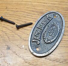 Jack Daniels No 7 Bourbon - Cast Iron Vintage Style Oval Plaque - Door Sign