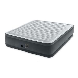 Intex 64409VM Dura Beam Plus Elevated Mattress Airbed with Built-In Pump, King