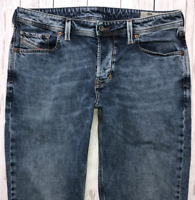 Mens DIESEL Larkee-Beex Jeans W34 L32 Blue Regular Straight Wash 084UX STRETCH