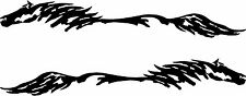 11 x 72 Horse Pony Decal Truck Trailer Car Graphic Set of 2