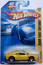 HOT WHEELS FERRARI GTO YELLOW 2008 FIRST EDITIONS 38 OF 40 - MINT