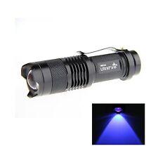 UltraFire 7w 300lm Cree Q5 LED 3-mode Mini Black Shell Portable Uv Flashlight