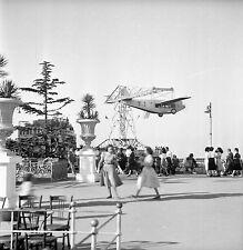 ESPAGNE c. 1951 - Manège Avion  Le Tibidabo  Barcelone - Négatif 6 x 6 - Esp 14