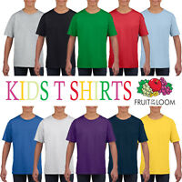 Fruit of the Loom Cotton Plain Cotton Wholesale Supplier Boys Girls T Shirt Top