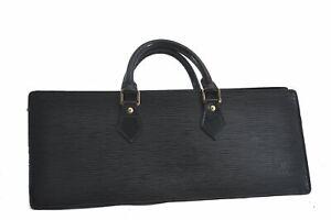 Authentic Louis Vuitton Epi Sac Triangle Hand Bag Black M52092 LV C0652