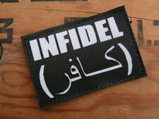SNAKE PATCH - INFIDEL NOIR - US taliban AFGHANISTAN irak Airsoft INTERVENTION