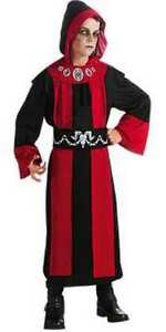 Deluxe Gothic Dark Lord Boys Red Black Robe Costume, Rubies 881448