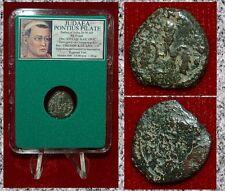 Ancient JUDAEA Coin PONTIUS PILATE Grain Ears Simpulum  RARE HISTORICAL COIN!