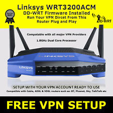 LINKSYS WRT3200ACM DDWRT VPN ROUTER IPTV ZGEMMA MAG BOX KODI FIRE TV OPENVPN