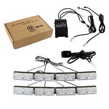 8x2 AMBER RECOVERY STROBE LED LIGHTS ORANGE GRILL BREAKDOWN FLASHING BEACON