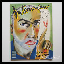 Andy Warhol's Interview Magazine March 1988 Francesco Clemente Laurence Treil