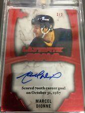2016 Leaf Ultimate Hockey Goals Marcel Dionne Auto Authentic Autograph 2/2