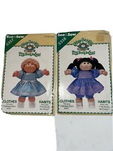 2  CABBAGE PATCH KIDS CLOTHES PATTERN FOR DRESSES.