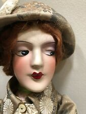 Antigue  Beautiful Boudoir Composition Doll Anita type 1920, 28 Inches Tall