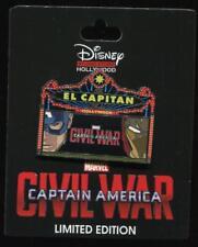 DSSH DSF El Capitan Marquee Captain America Civil War LE 400 Disney Pin 114599