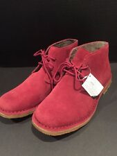 Ugg Men's Leighton Chukka Boot Burgundy Size 9 New