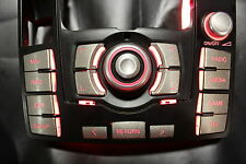 MMI Aufkleber Audi A6 4f mmi 2G + 3G High Titan-gebürstet-optik mit MEDIA Taste