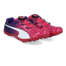 Puma Mens EvoSPEED Disc 3 Running Spikes Traction Pink Purple Sports Breathable