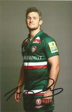 LEICESTER TIGERS RUGBY UNION: TOM BRADY SIGNED 6x4 PORTRAIT PHOTO+COA