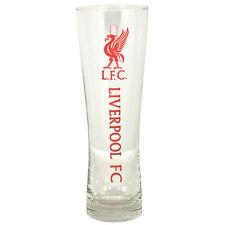 LIVERPOOL FC WORDMARK PERONI TALL BEER PINT GLASS 24 CM FOOTBALL NEW XMAS GIFT