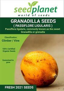 Granadilla Seeds - Passiflora Ligularis Sweet Passion Fruit Seeds - 15 Seeds