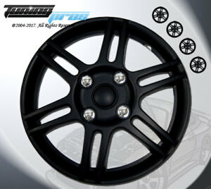 """Matte Black Style 004 14 Inches Hubcap Wheel Cover Rim Skin Covers 14"""" Inch 4pcs"""