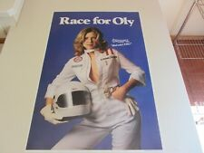 vintage Olympia beer poster Race for Oly