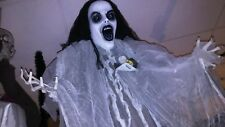 Halloween prop SCARY HANGING GOTHIC GIRL. SCARY SOUNDS, REALLY CREEPY. NEW.