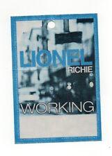 Lionel Richie 2004 One World Tour Working Crew Satin Backstage Pass