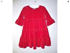 HANNA ANDERSSON HOLIDAY CHRISTMAS RED VELOUR TULLE TWIRL DRESS Euro 110 5 6 EUC
