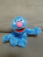 """Fisher Price Plush Blue Muppet Grover Bean Bag 9"""" 2005 Excellent Shape"""