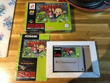 Snes zombies Ate my neighbors Super Nintendo boxed with book