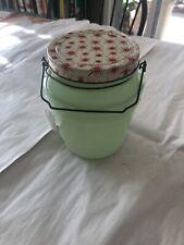 Vintage Jadite Pickeled Herring Jar