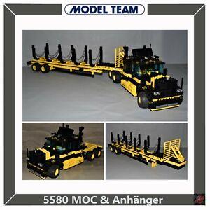 Lego 5580 MOC Model Team Highway Rig LKW Truck Anhänger Technic Technik