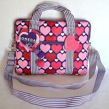 New Justin Bieber Someday Girls Laptop Crossbody Shoulder Bag Nylon Purple Heart