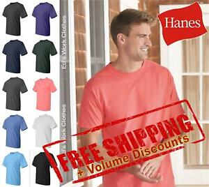 Hanes Ringspun Mens Blank Short Sleeve Cotton Beefy-T Shirt 5180 up to 6XL
