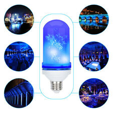 E26 Blue LED Flicker Flame Light Bulb Simulated Burning Fire Effect Festival