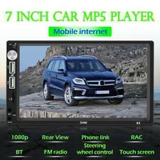 Double 2 DIN Car Stereo 7 inch Bluetooth AUX RCA USB FM Radio Receiver Head Unit