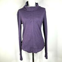 Lululemon Pullover Sweatshirt Jacket Womens 6? Purple Striped Cowl Neck