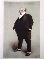 Henri MONNIER gravure heliotypie portrait Monsieur Prudhomme