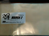 100 BUSTE W.R. FORMATO MANGA 2 (MANGA VARI, ALAN FORD NUOVA ED...) 135X183 NUOVE