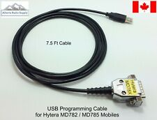 USB Rear Programming Cable for HYTERA MD782 MD785 Mobiles  7.5 Ft Cable CANADA