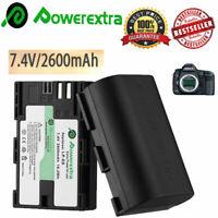 2 X LP-E6 Battery For Camera Canon EOS 80D 6D 7D 70D 60D 5D Mark III Mark II UK