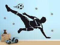 Wandaufkleber: Fußballer + Name Kinderzimmer EM WM Deko Fußball Junge WandTattoo