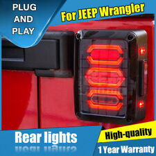 For JEEP Wrangler Dark LED Rear Lamps Assembly LED Tail Lights 2007-2017