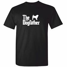 Mens PUG TShirt - The DOG FATHER Funny T Shirt Gift Clothing
