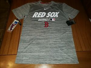 Nike Boston Red Sox Dri-Fit MLB Shirt Men's Size Small Heather Gray NWT