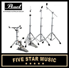 PEARL 830 HARDWARE PACK SNARE CYMBAL BOOM HI-HAT STANDS & KICK PEDAL NEW HWP-830