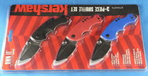 Kershaw 8700 Shuffle Multi-Function Folding Knives set of 3 (Blue, Red and Black